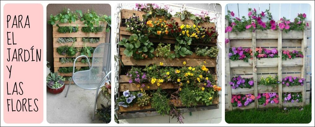 Reciclar con palets jardineria - Como reciclar palets ...