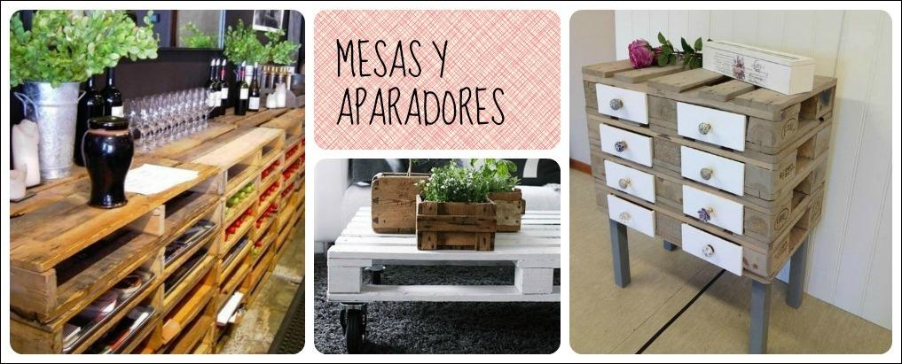 Reciclar con palets mesas y aparadores - Reciclar palets para muebles ...