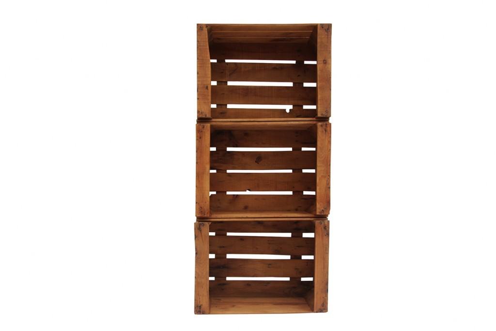 Estanteria cajas de fruta morera ecodeco mobiliario - Caja de frutas de madera ...