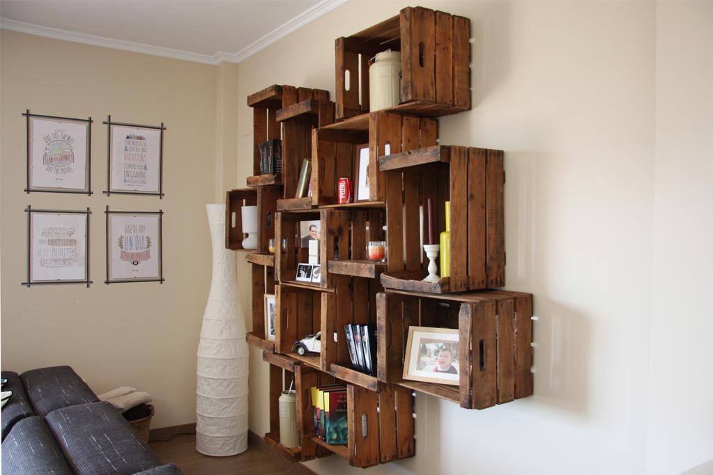 Muebles con cajas de fruta idee per interni e mobili - Cajas de fruta recicladas ...