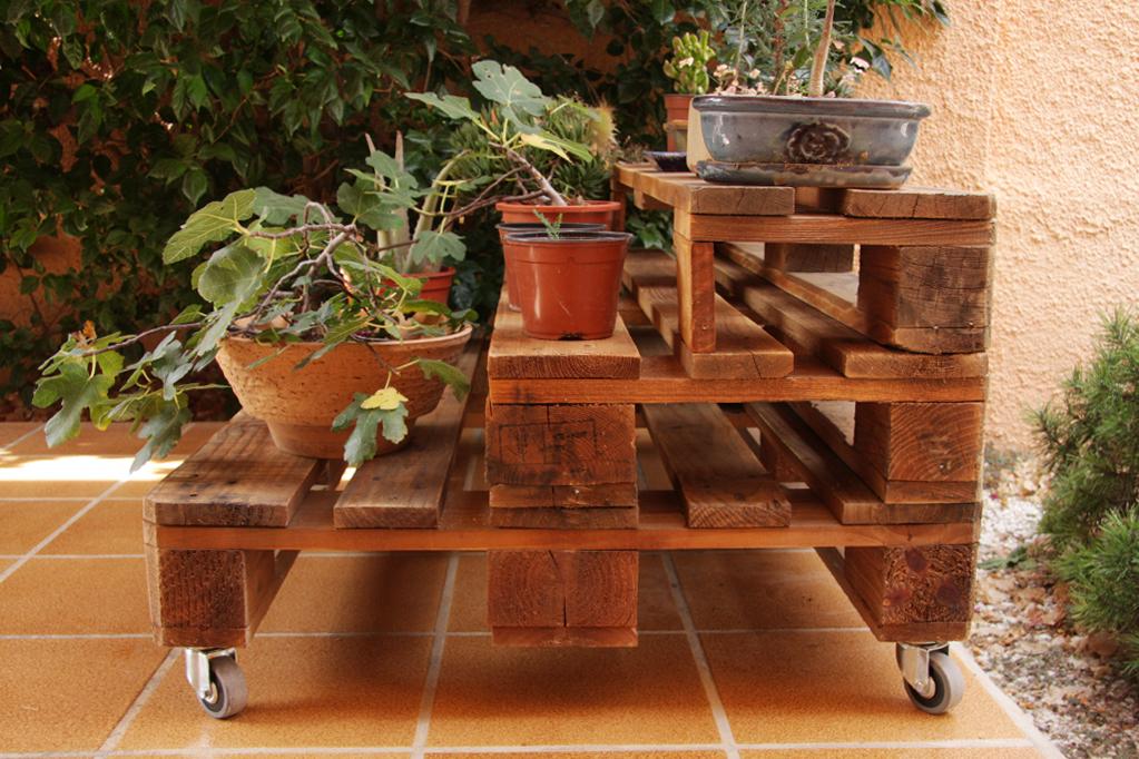 Jardinera palets marbor ecodeco mobiliario - Jardineras con palets ...