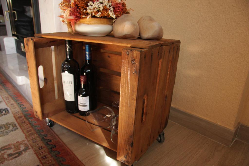 Mesa cajas de fruta abedul ecodeco mobiliario - Cajas de fruta recicladas ...