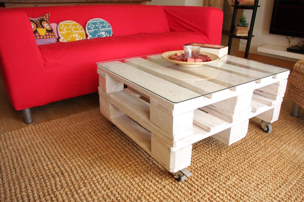 mesa teide blanco 2 - Mesa Con Palets