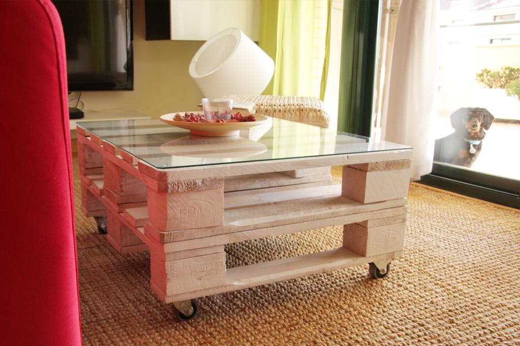 Mesa palets teide ecodeco mobiliario - Mesas con cajas de madera ...