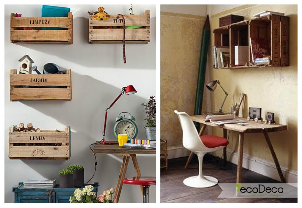 Estanterías con cajas de fruta - ECOdECO Mobiliario