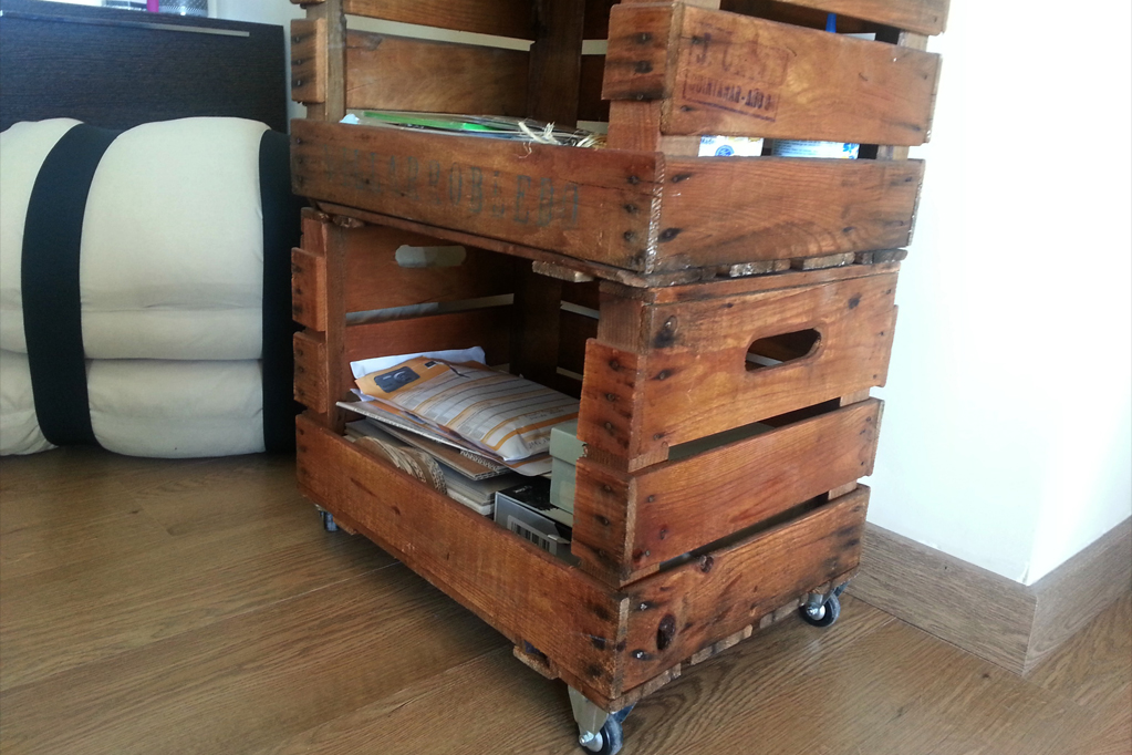 Estanterias con cajas de fruta cool decorando con cajas - Estanterias con cajas de fruta ...