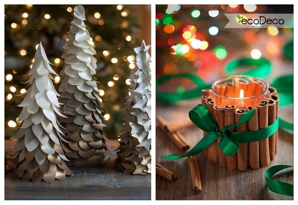 Navidad reciclada ecodeco mobiliario - Centros de mesa navidad ...