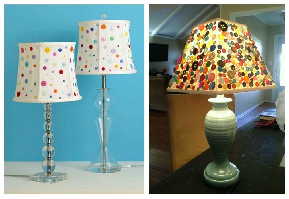 Reciclar con botones ecodeco mobiliario - Como hacer una lampara de pared ...
