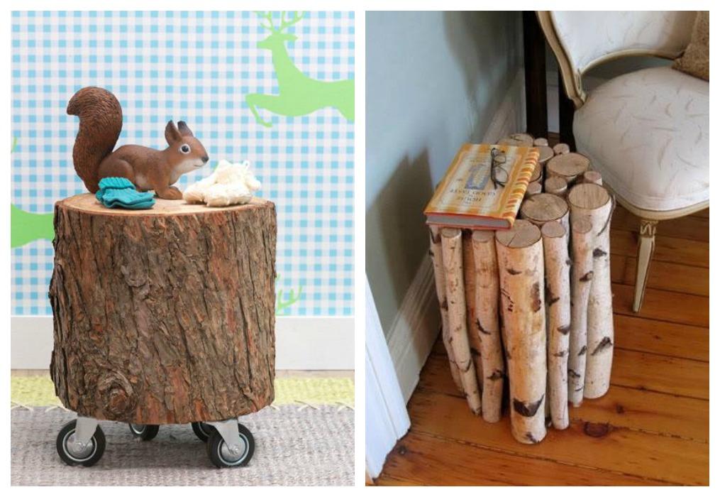 Decoraci n con troncos ecodeco mobiliario for Mesas de troncos de arboles