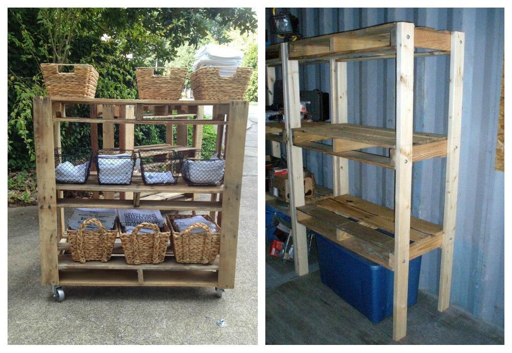 Estanter as de palets ecodeco mobiliario - Muebles exterior palets ...