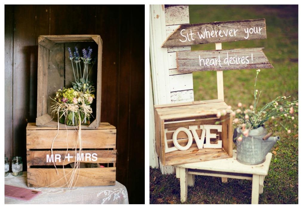Reciclaje para bodas ecodeco mobiliario for Decoracion de cajas