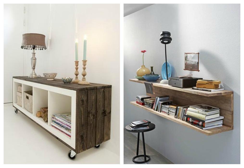 Estanter as de palets ecodeco mobiliario - Como hacer un mueble de salon ...