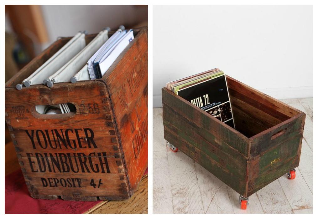 Revistero con cajas de fruta - Cajas de madera de fruta gratis ...
