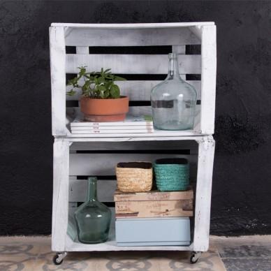 Muebles hechos con cajas de fruta - Estanterias con cajas de fruta ...