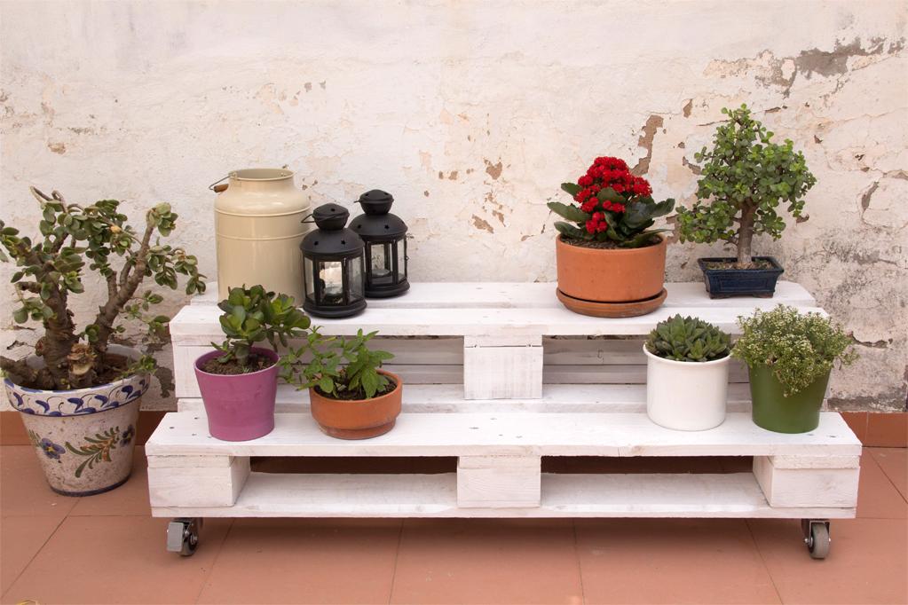 Jardinera palets gabarr ecodeco mobiliario for Deco en palet de madera