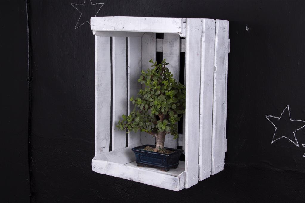 Estanteria cajas de fruta arce ecodeco mobiliario - Cajas para estanterias ...