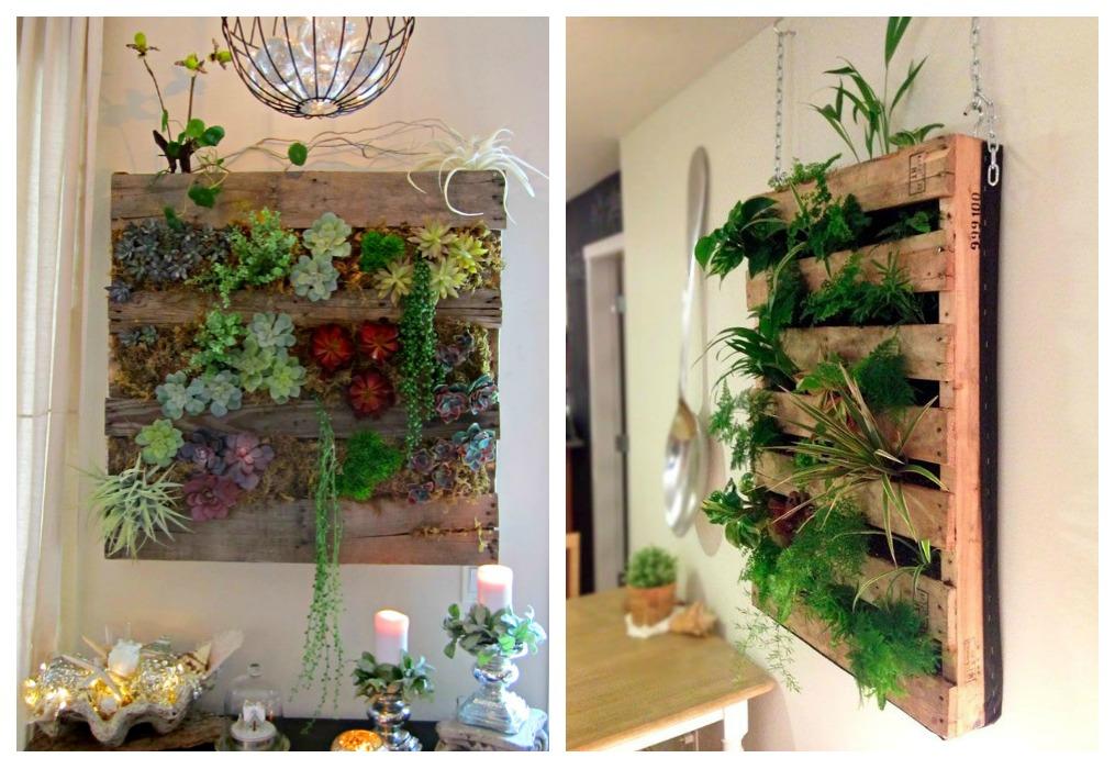 Jardinera de palets ecodeco mobiliario for Jardin vertical interior