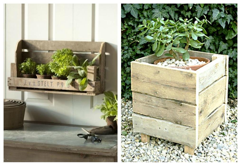 Jardinera de palets ecodeco mobiliario - Jardineras de interior ...