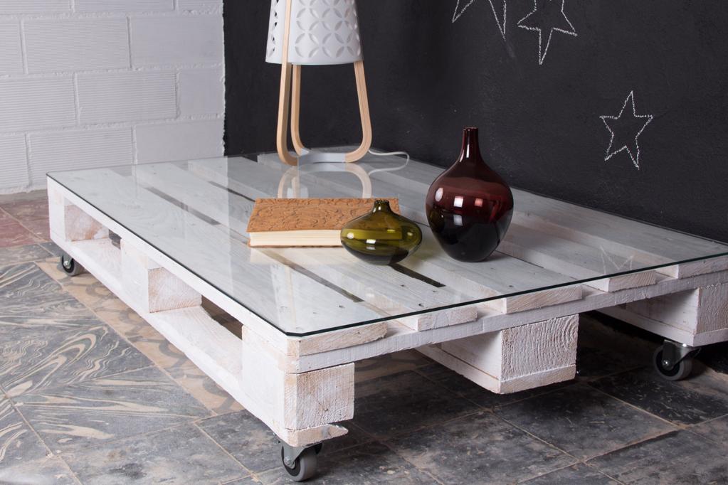 03 mesa palets mulhacen blanca 1p - Mesas De Palet