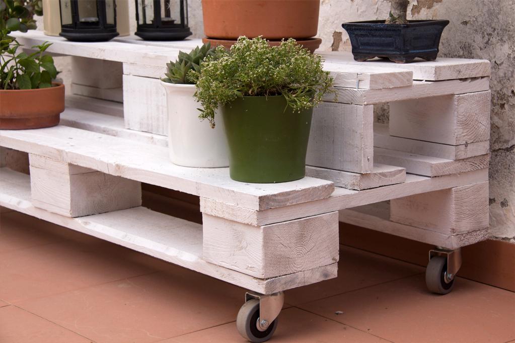 Jardinera palets gabarr ecodeco mobiliario - Mobiliario con palets ...
