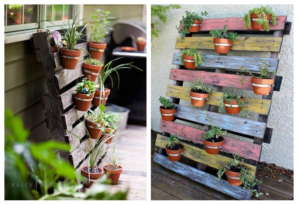 Jardinera de palets ecodeco mobiliario for Ideas con palets para jardin