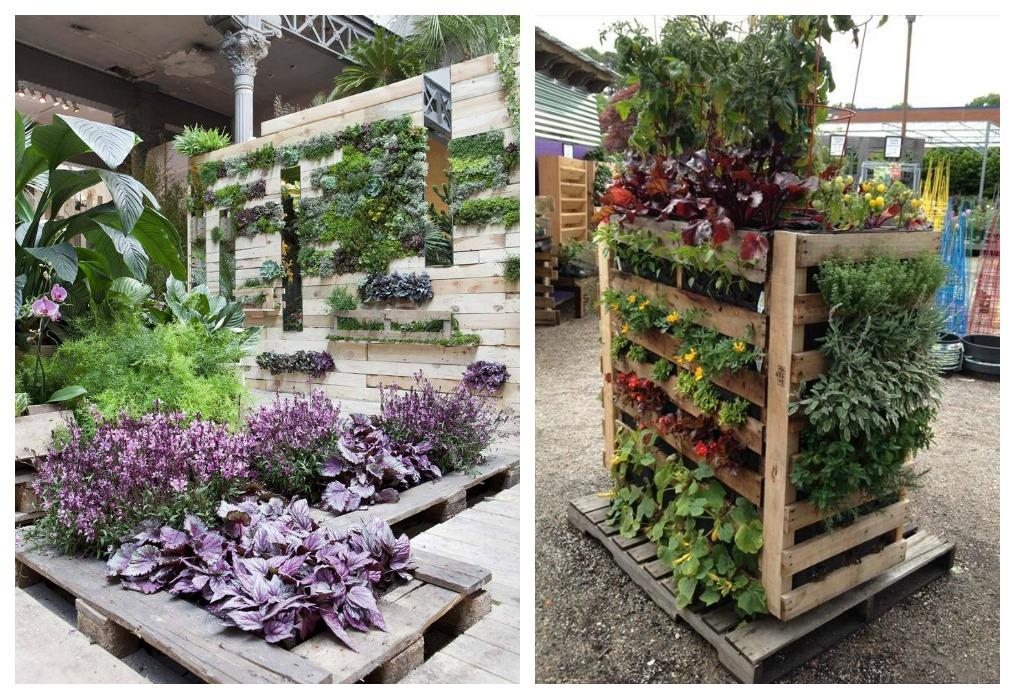 Jardinera de palets ecodeco mobiliario for Tipos de jardineras