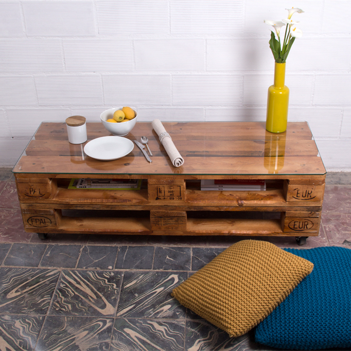 Mesa palets rusell ecodeco mobiliario for Deco en palet de madera