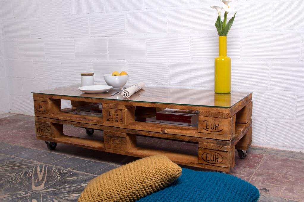 01 mesa palets rusell barniz 2p - Mobiliario Con Palets