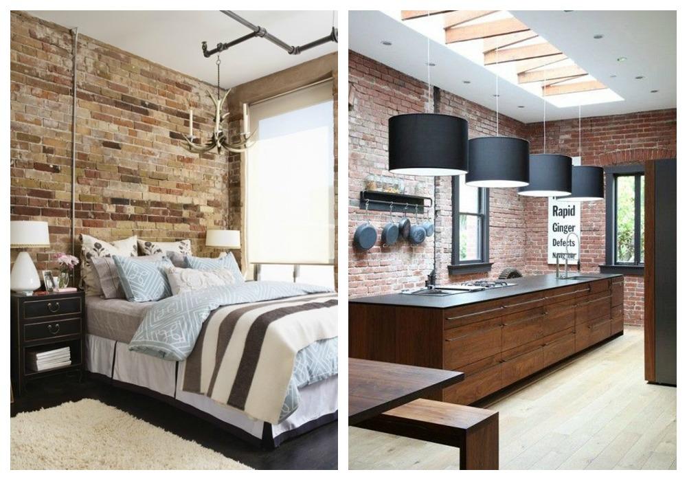 Paredes de ladrillo visto ecodeco mobiliario - Paredes modernas para interiores ...