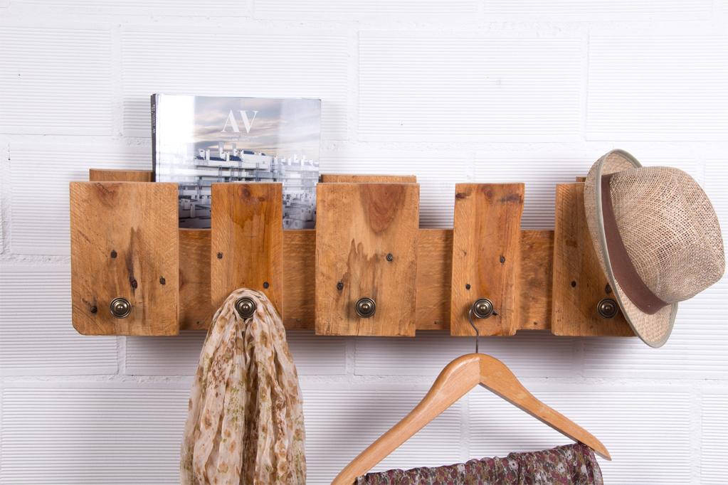 Perchero palets posets ecodeco mobiliario - Comprar muebles con palets ...