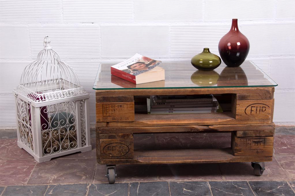 Mesa de palets sagra ecodeco mobiliario - Macetas hechas con palets ...