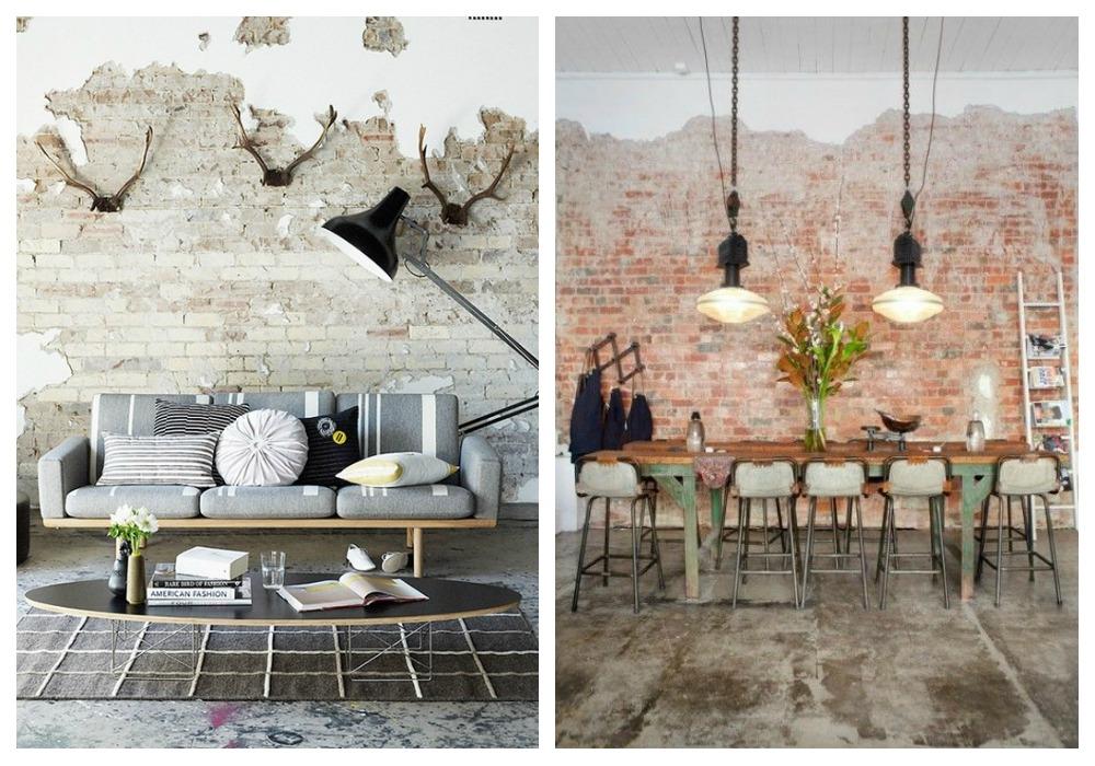 Paredes de ladrillo visto ecodeco mobiliario - Ladrillos decorativos para interiores ...