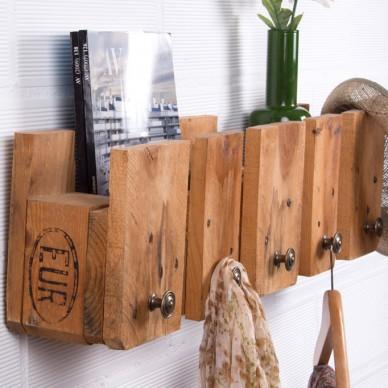 Muebles hechos con palets for Perchero para cocina