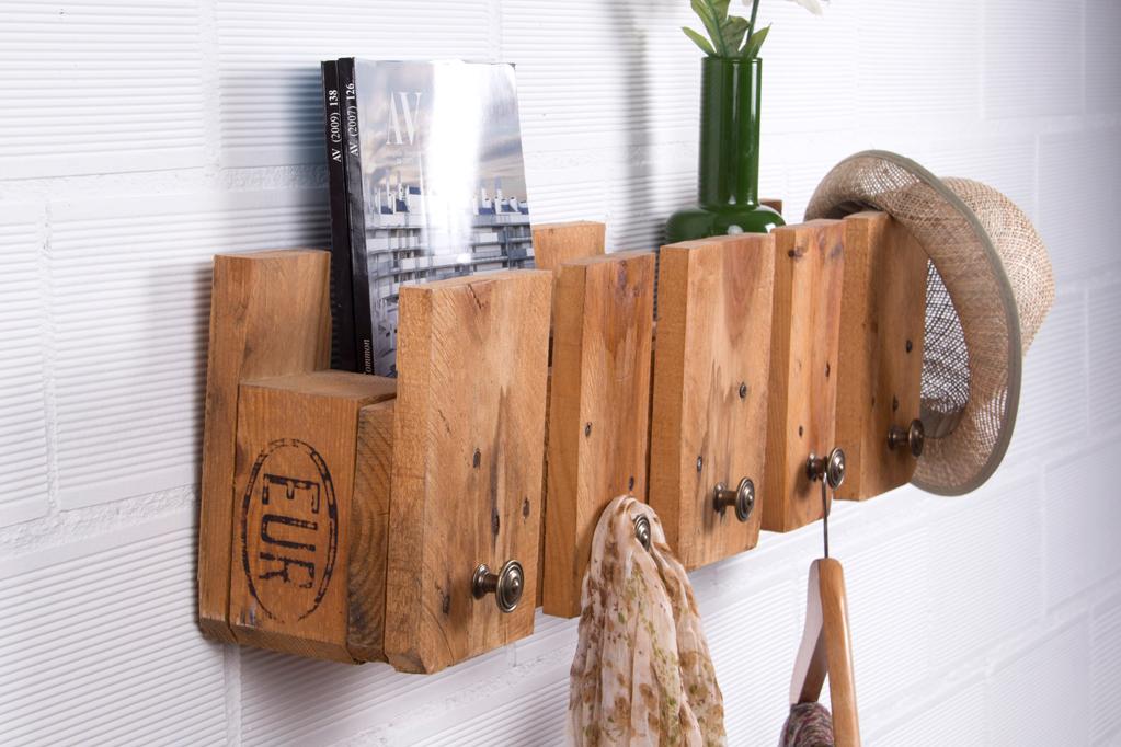perchero palets posets ecodeco mobiliario. Black Bedroom Furniture Sets. Home Design Ideas