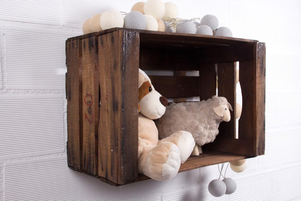 Estanteria cajas de fruta abedul ecodeco mobiliario - Cajas fruta recicladas ...