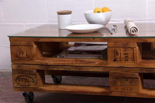 Mesa palets rusell ecodeco mobiliario - Mobiliario con palets ...
