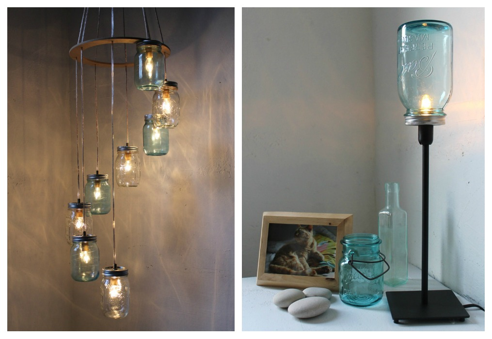 Lámparas recicladas - ECOdECO Mobiliario