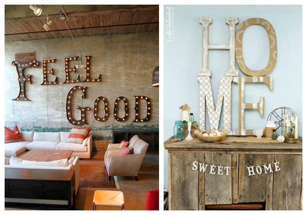 Decorar con letras ecodeco mobiliario - Formas de letras para decorar ...