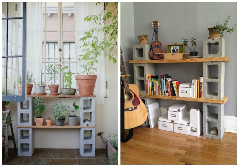 Muebles con bloques de hormig n ecodeco mobiliario for Bloques decorativos para jardin
