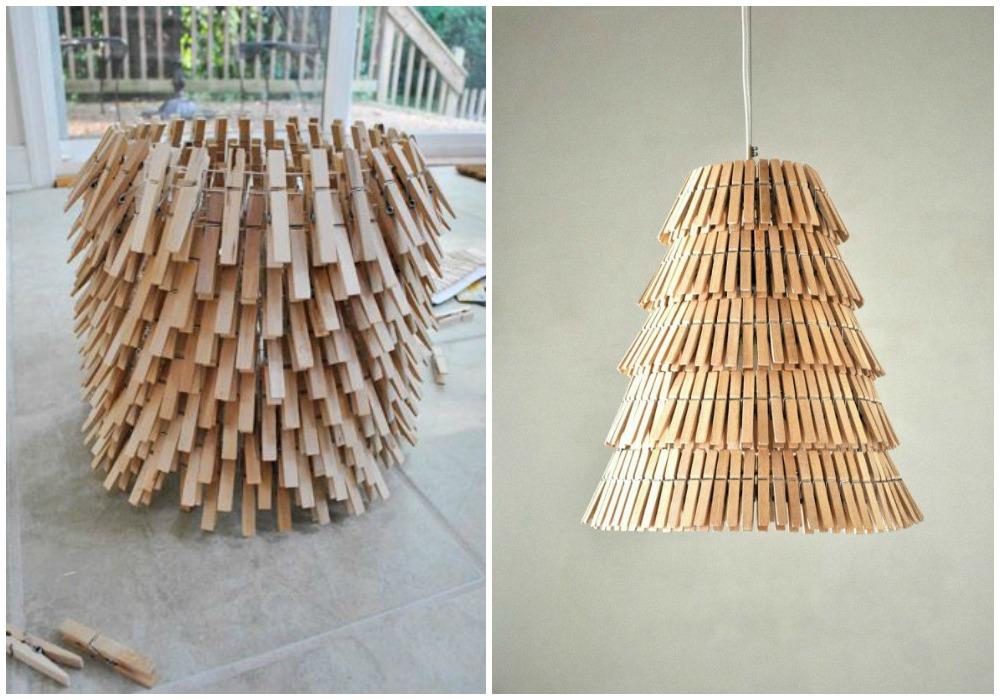 Diy con pinzas ecodeco mobiliario - Como hacer una lampara de pie artesanal ...