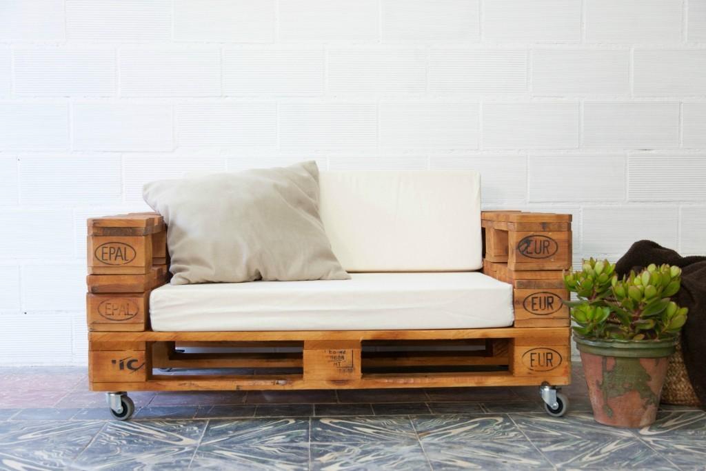 Almanzor sof palets ecodeco mobiliario - Muebles hechos con estibas ...