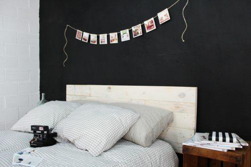 Aspe cabecero palets 100 ecodeco mobiliario for Cabecero blanco madera