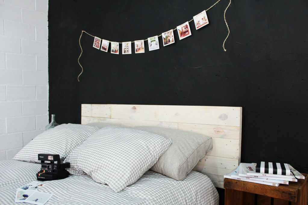 Aspe cabecero palets 100 ecodeco mobiliario - Cabecero cama blanco ...