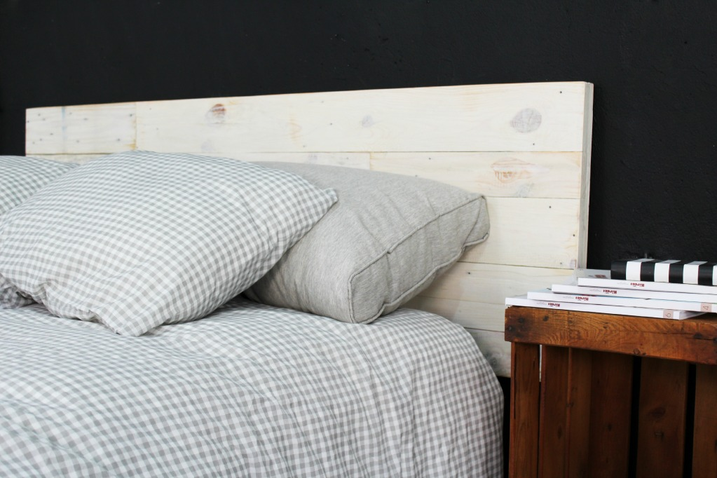 Aspe cabecero palets 100 ecodeco mobiliario - Cabeceros de madera blanco ...