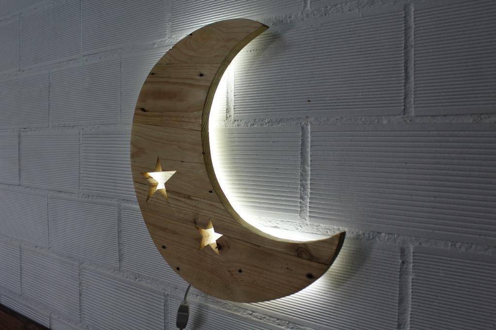 Luna l mpara palets ecodeco mobiliario - Lamparas con palets ...