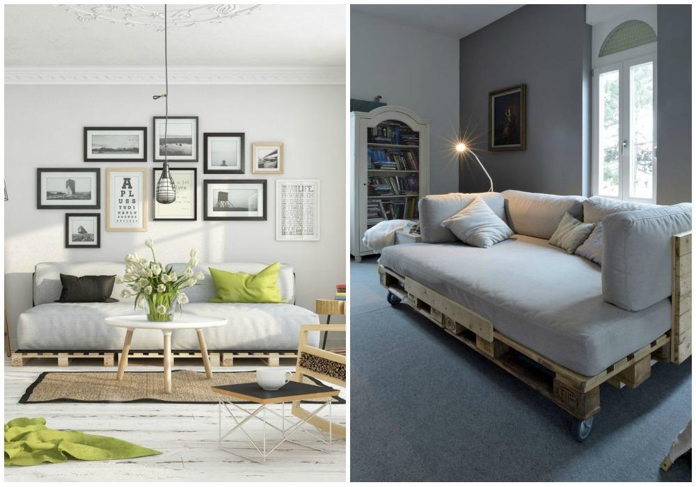 Sof de palets ecodeco mobiliario - Como hacer un sofa de palets ...