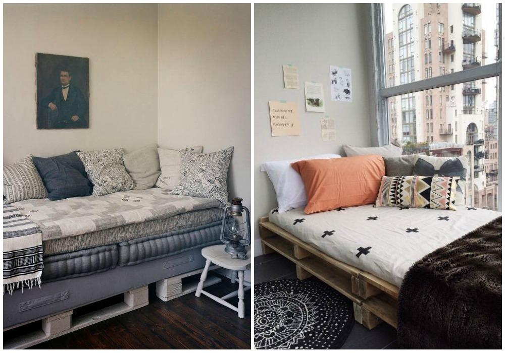 Sof de palets ecodeco mobiliario - Como hacer un sofa con palets ...