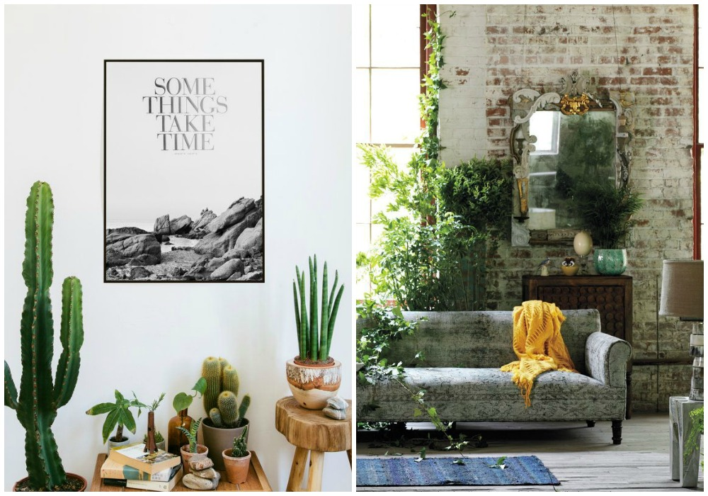 30 im genes de inspiraci n para decorar con macetas plantas for Decoracion para el salon de casa