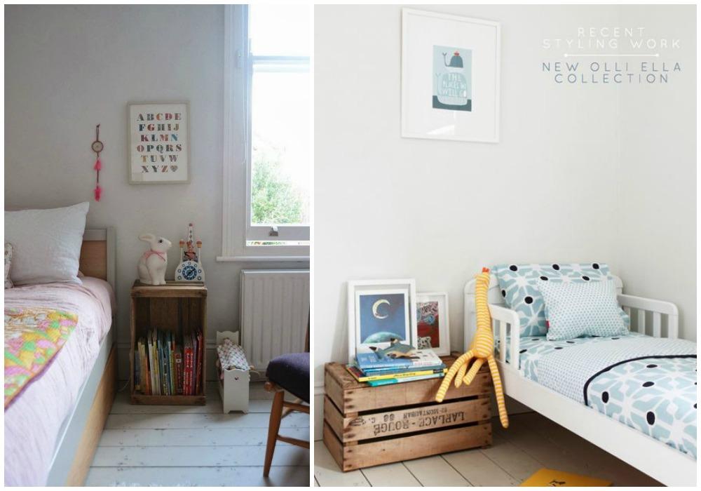 Espacios con cajas de fruta ecodeco mobiliario - Mesita de salon ...