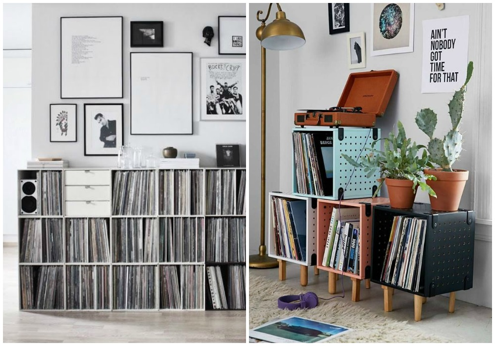 Decorar con colecciones ecodeco mobiliairo - Decoracion con discos de vinilo ...